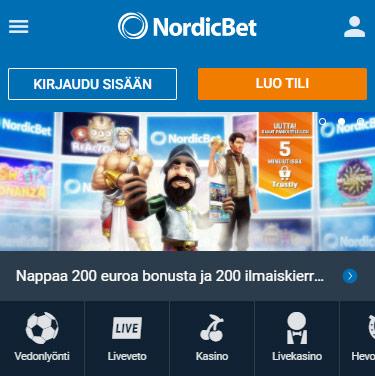 NordicBet vedonlyönti arvostrelu pelaa.online