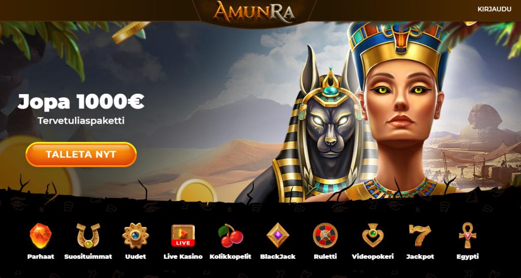 Amunra on egypti-teemainen casino.