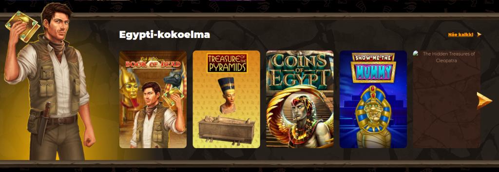 Amunra Casinon teemapelit