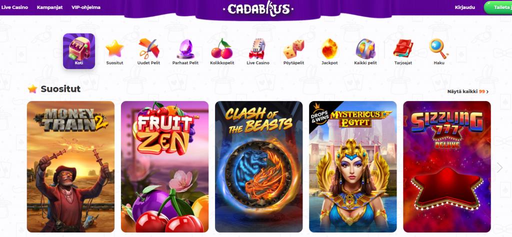 Cadabrus casinon pelejä