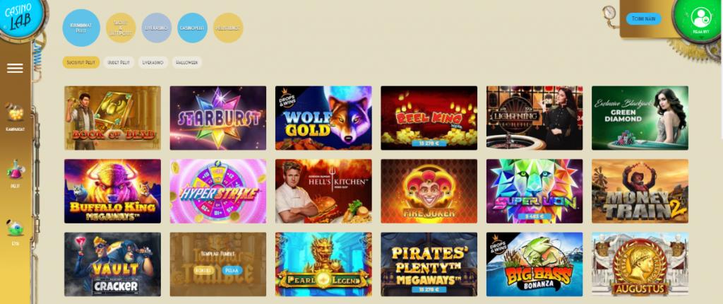 Casino Lab kasinopelit