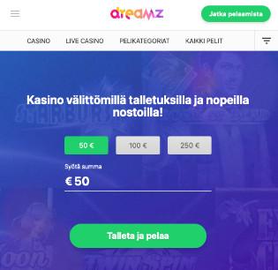 dreamz kasino arvostelu pelaa.online