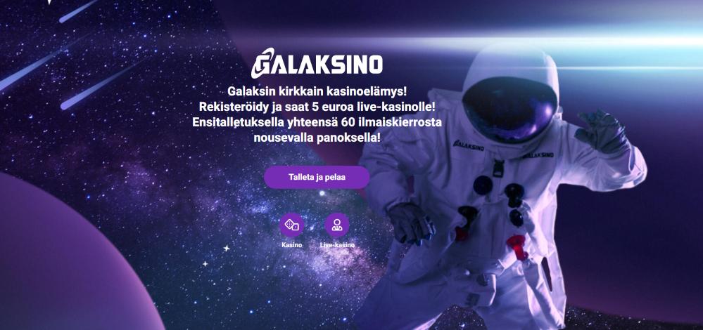 Galaksi Casinon etusivu