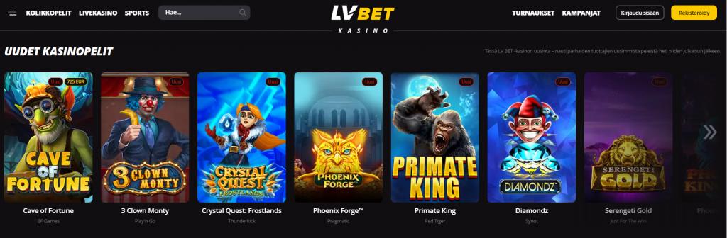 LVBet kasinopelit