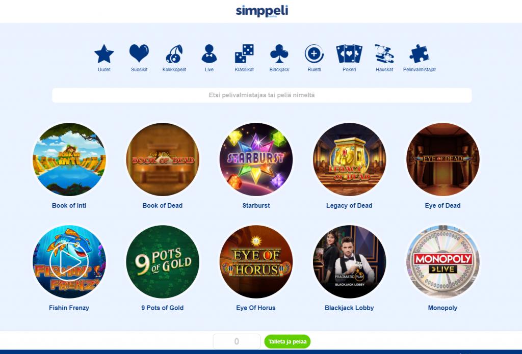 Simppeli kasinopelit