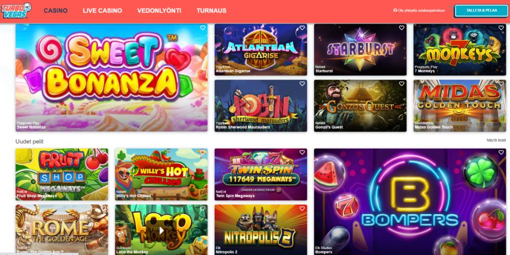 Turbo Vegas kasinopelit